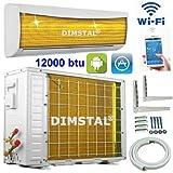 A++/A+ WiFi WLAN Golden-Fin 12000 BTU 3,5 kW Split Klimaanlage INVERTER Klimagerät und Heizung SmartHome Modell 2017