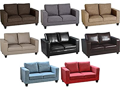 Seconique Tempo Sofa - Two Seater Sofa in a Box - Fabric or Faux Leather - Choice of Colours by Seconique