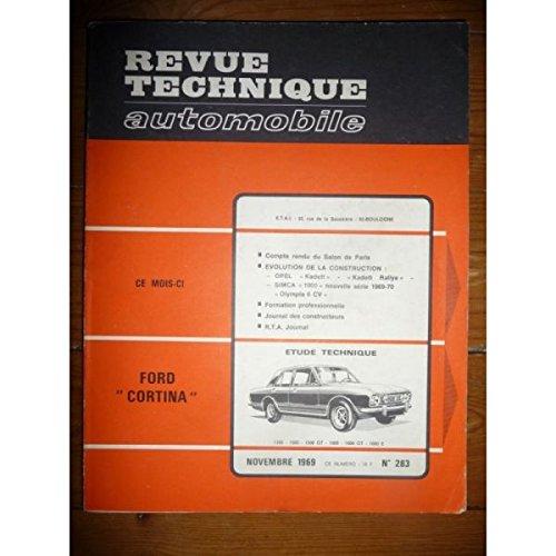 RTA0283 - REVUE TECHNIQUE AUTOMOBILE FORD CORTINA 1300-1500-1500GT-1600-1600GT-1600E