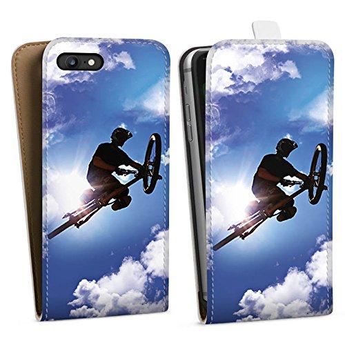 Apple iPhone X Silikon Hülle Case Schutzhülle Mountainbike Fahrrad Sport Downflip Tasche weiß