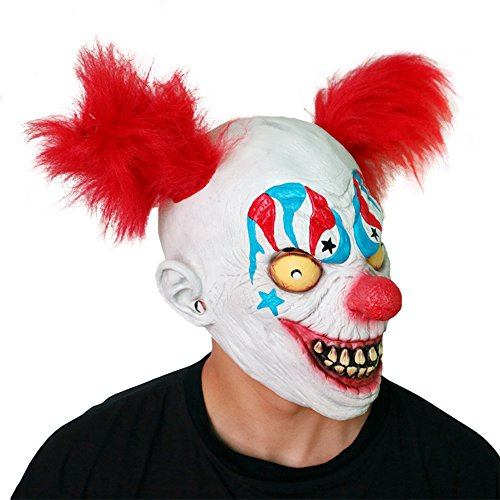 Lee Tong Latex Hair Clown Maske Kopfbedeckung Halloween Horror Maske Klassischen Film Headgear Haunted Haus Requisiten