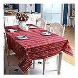 ZHAOXIANGXIANG Weihnachten Tischdecke Polyester - Baumwolle Imitation Leinen Cartoon Weihnachtsbaum Rotwild Geschenk Box Bedruckt Tischdecke Beistelltisch, 60 X 60 cm