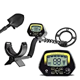 HUKOER Metal Detector MD3030- Lightweight Professional Detectors High sensitivity Underground Treasure Hunter LCD
