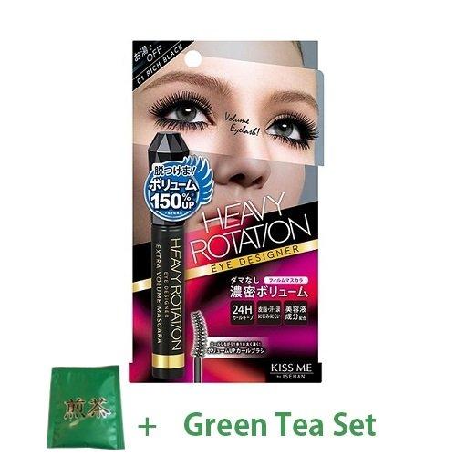 KissMe Isehan Heavy Rotation Eye Designer Extra Volume Mascara - Rich Black (Green Tea Set)