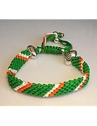 Hecho a mano Rugby cuerda pulseras, IRELAND