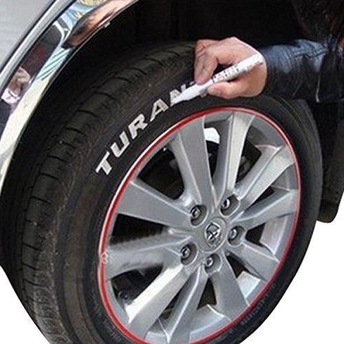 YONGYAO Autoreifen Reifen Marker Lack Stift Wasserdicht Weiß Universal