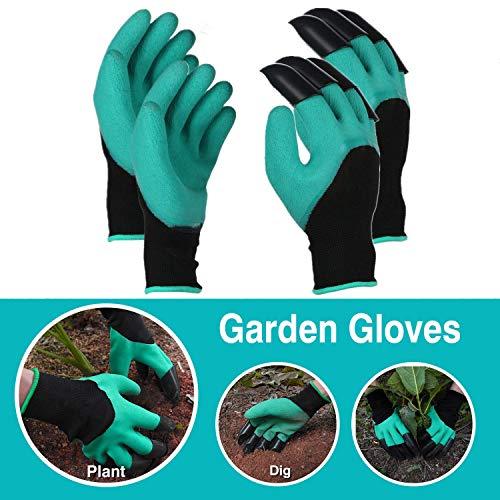 Boller Lot de 2 paires de gants de jardin pour creuser et planter les roses pour élaguer les gants pour homme et femme, doux, imperméables et respirants.