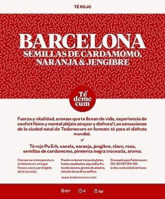 BARCELONA Gourmet 100gr. Pu erh thé rouge, cannelle, orange, gingembre, graines de cardamome, clou de girofle, poivre noir haché, rose, arôme