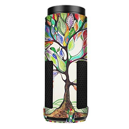 Fintie Protective Case for Amazon Echo Plus/Echo (1st Generation) - Premium Vegan Leather Cover Sleeve, Love Tree