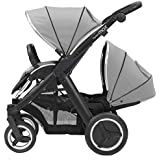 Babystyle Oyster Max 2 Tandem Pushchair - LIE FLAT - Black/Silver Mist NEW 2015