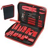 MANLI 21 pcs Kit de Outils Démontage Garniture Installation Ou Suppression Autoradio de Voiture Universel pour Panneau de Porte Nylon Pry Tool Avec Sac d'Outil