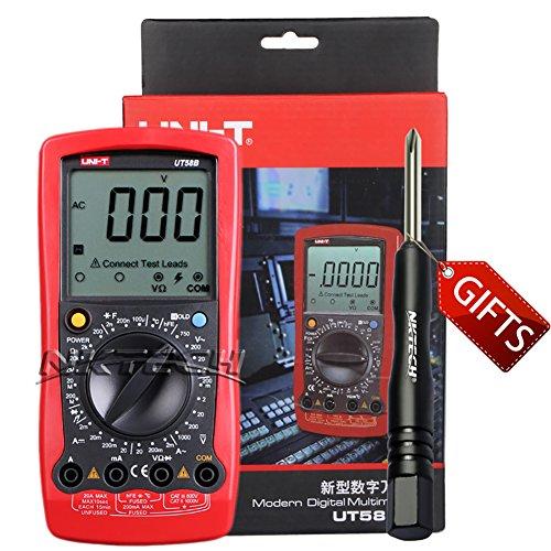 Nktech uni-t UT58B multimetro digitale temperatura -40°C 1000°C edizione AC DC tensione corrente resistenza frequenza tester buzzer Meter con cacciavite tl-1