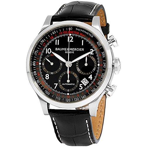 Baume & Mercier BMMOA10084 Capeland - Reloj analógico para Hombre, Color Negro