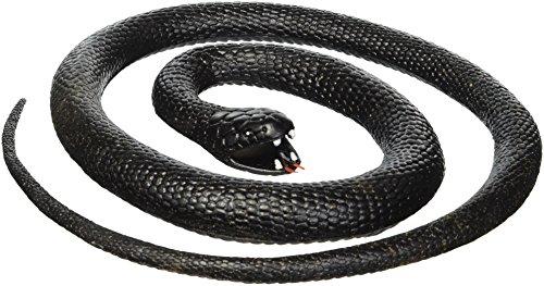 Wild Republic 20776Black Mamba Gomma Serpente, Nero, 117cm