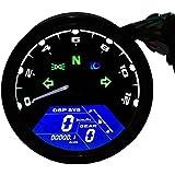 TurnRaise Universal 12000RMP LCD Digital Speedometer Tachometer Motorcycle 1-4 Cylinders