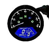TurnRaise Universale LCD Digitale Tachimetro Montaggio Contachilometri Motorcross F1 F2 F4 Cilindri CF125 Moto Tachimetro (Contagiri moto)