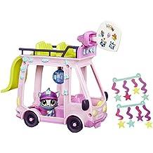 Hasbro Littlest Pet Shop LPS Shuttle Rosa, Amarillo Chica - figuras de juguete para niños (Rosa, Amarillo, 4 año(s), Chica, Dibujos animados, Animales, Gato)