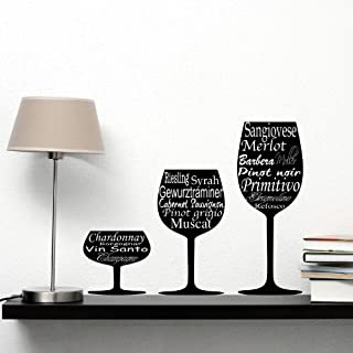 'Adesiviamo 669-m Wine Glasses–Gläser von Wein Wandtattoo Vinyl Wall Stickers