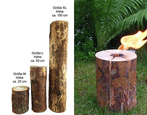 *Schwedenfeuer Gr. XL (H: ca. 100 cm) Baumfackel / Baumstammfackel für Party's etc.*