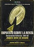 IMPUESTO SOBRE LA RENTA. Declaración. Criterios 1981-1982.