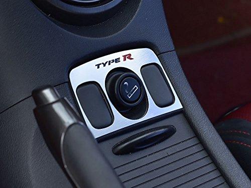 Interieur Stahlabdeckung für Civic Type R III FN2-1 Stück Zigarettenanzünder Ringes Rahmen Edelstahl Gebürstet Blenden Cockpit Dekor Mass Angefertigt (Civic Teile Honda 2006)