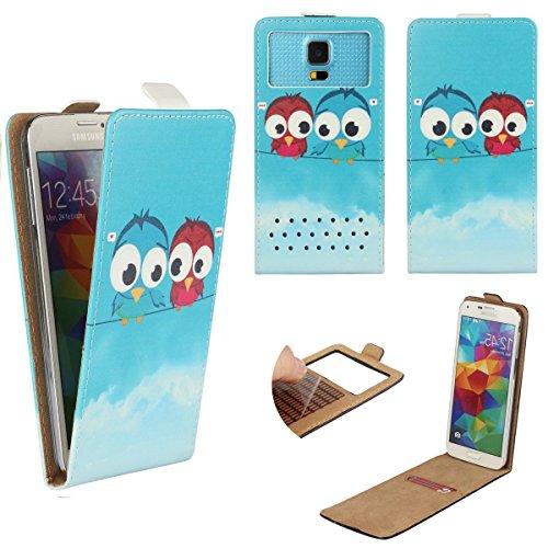 pepsi-p1s-smartphone-klappbare-flip-tasche-schutzhulle-mit-kreditkartenfach-flip-eule-2-nano-l