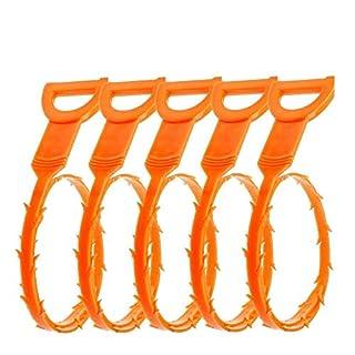 NiceButy 5 Stück Kunststoff Drainage Haarfänger Bequeme Drainage Jam-Remover-Werkzeug Nützliche Rohr Drainage Schlange Reiniger DIY Tools