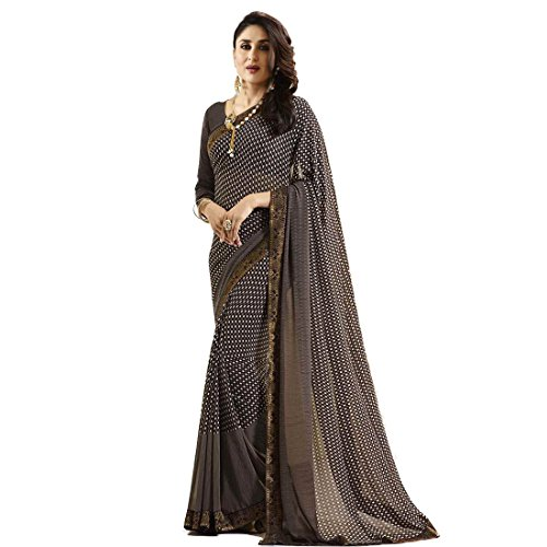 TAGLINE Women's Multicolor Georgette Saree With Blouse Piece (18513)