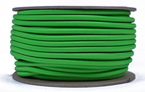 NEON GRÜN 3/40,6cm Gummiseil, gebohrt Paracord Marine Grade Schock/Bungee/Stretch Cord 3/40,6cm X 100Füße mehrere Farben-Made in USA -