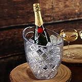 Seau à glace givré–3L en plastique givré Rafraîchisseur à vin et champagne