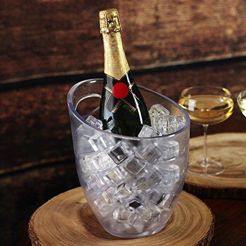 Frosted Ice Bucket 3Liter-Kunststoff Frosted Wein und Champagner