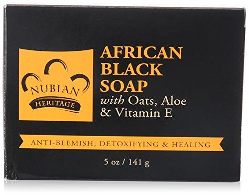 Nubian Heritage - African Black Soap - Schwarze Seife - 5 Unzen (141g)