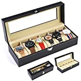 Best AXIS Jewelry Boxes - LLFFDC 6 Grids Watch Storage Box Jewellery Display Review