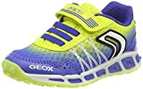 Geox Jungen J Shuttle Boy B Sneaker, Blau (Royal/Lime), 26 EU
