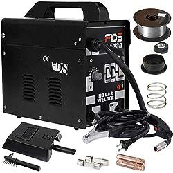 COSTWAY Poste à Souder Mig Inverter avec Gaz Soudage Electrique Kit De Soudage Machine à Souder (Noir)