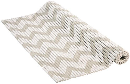 Venilia Weichschaummatte VenisoftFischgrätrutschfester Bodenbelag Duschmatte Anti-Rutschmatte, PVC-Polyester, grau-weiß, 65 x 200 cm, 54715