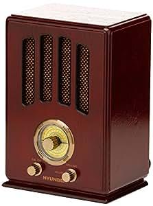 Hyundai Nostalgie bois radio design rétro de tubes de cuisine Radio FM/AM Nostalgie Radio Top son affichage classique rétro vintage Effet bois