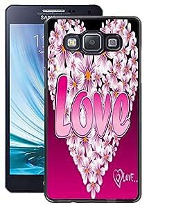 ColourCraft Love Heart Design Back Case Cover for SAMSUNG GALAXY A5 A500F