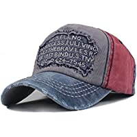 Elwow Men's Distressed Vintage Baseball Cap Snapback Trucker Hat, Sports Baseball Hat, Hiking Hat