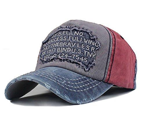 Elwow Herren Distressed Vintage Baseball Cap Snapback Trucker Hat, Sport Baseball Hat, Wandern Hat (Distressed Trucker Hat-cap)