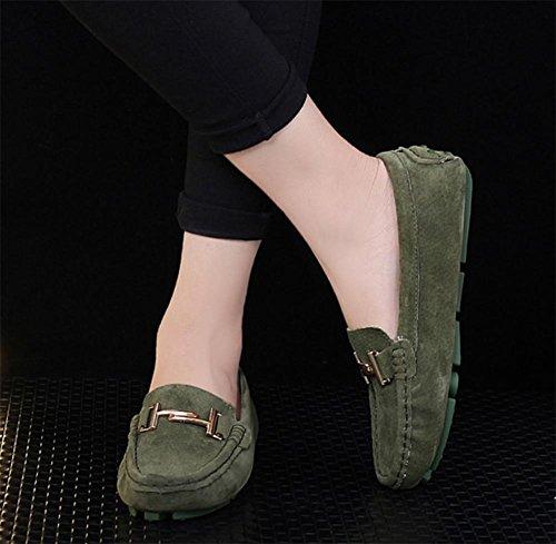 La signora Primavera Peas scarpe da donna scarpe scarpe casual rotonda scarpe basse Green