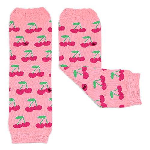 Dotty Fish Mädchen Beinstulpen Baby und Kleinkind - Lila Blumen, rosa Kirschen, Creme Streifen und vieles mehr - Einheitsgröße