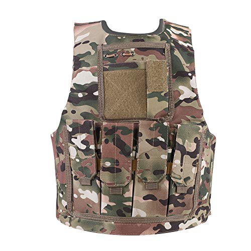 Alomejor Kinder Camouflage Art Kids Security Guard Weste für Kinder Training Military Army Weste(CP)