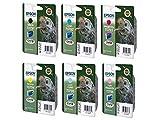 Epson T079, Set Cartucce d'Inchiostro per Stylus 1400 Photo Printer, 6 Colori: Nero, Ciano, Ciano Chiaro, Magenta, Magenta Chiaro, Giallo