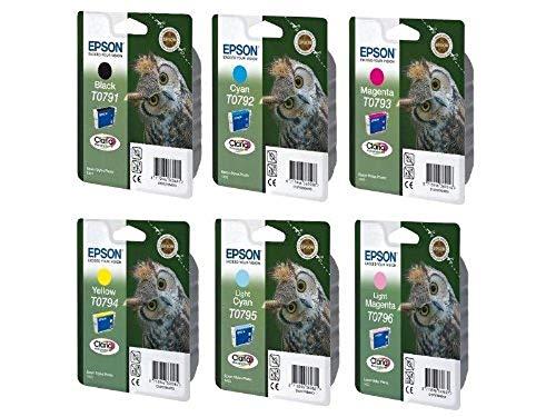 Epson T0791 Full Ink Cartridge Set for Stylus 1400 Photo Printer - Light Cyan/ Light Magenta/ Cyan/ Magenta/ Yellow/ Black
