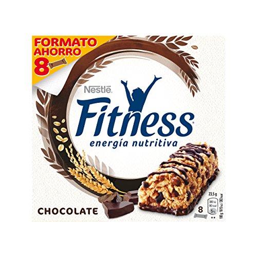 NESTLÉ Fitness - Barritas de Cereales Fitness con chocolate negro - Paquete de 8 barritas de cereales x 23.5 g (Total: 188 gr)