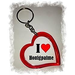 """Exklusive Geschenkidee: Herzschlüsselanhänger """"I Love Honigpalme"""", eine tolle Geschenkidee die von Herzen kommt - Rucksackanhänger- Liebesanhänger- Weihnachts Geschenktipp"""