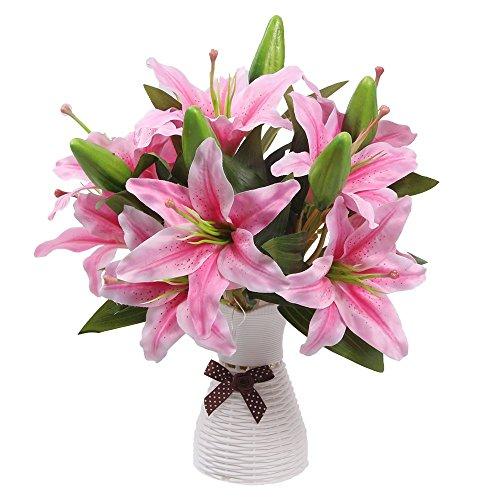 künstlichen Blumen, Omont Lilien, Fake Blumen für Hochzeit Dekoration, Ostern Dekorationen Seide Blume rose Gesunkenes Schiff Dekorationen