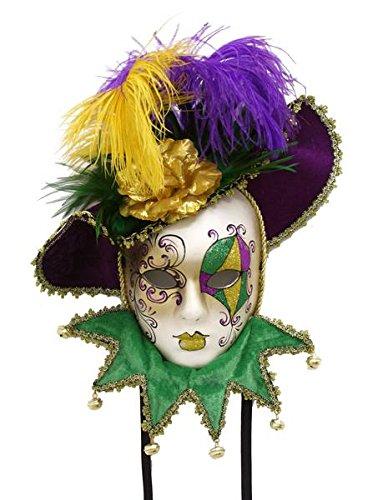 Renaissance 2000 Mardi Gras Maske mit Hut, Mehrfarbig
