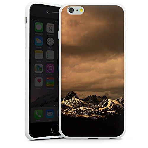 Apple iPhone X Silikon Hülle Case Schutzhülle Berglandschaft Gebirge Wolken Silikon Case weiß